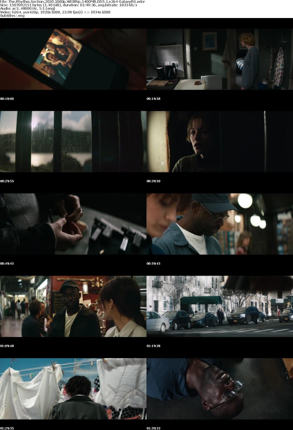 The Rhythm Section (2020) 1080p WEBRip 1400MB DD5.1 x264-GalaxyRG