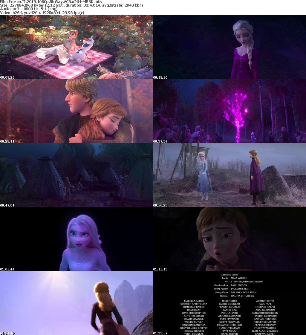 Frozen II 2019 1080p BluRay AC3 x264-MRSK