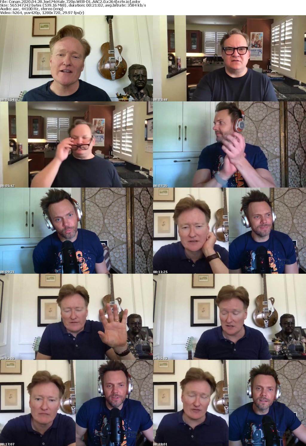 Conan 2020 04 28 Joel McHale 720p WEB-DL AAC2 0 x264
