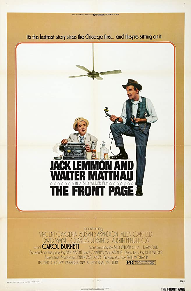 The Front Page (1974) [720p] [BluRay] [YTS MX]