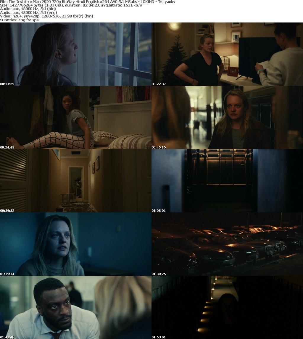 The Invisible Man (2020) 720p BluRay Hindi English x264 AAC 5.1 MSubs - LOKiHD - Telly