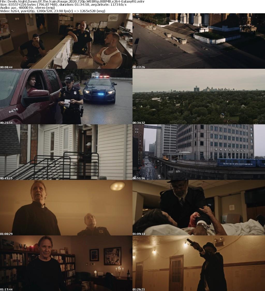 Devils Night Dawn Of The Nain Rouge (2020) 720p WEBRip 800MB x264-GalaxyRG