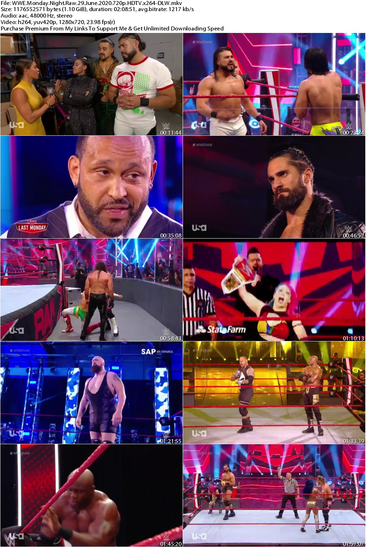 WWE Monday Night Raw 29 June 2020 720p HDTV x264-DLW