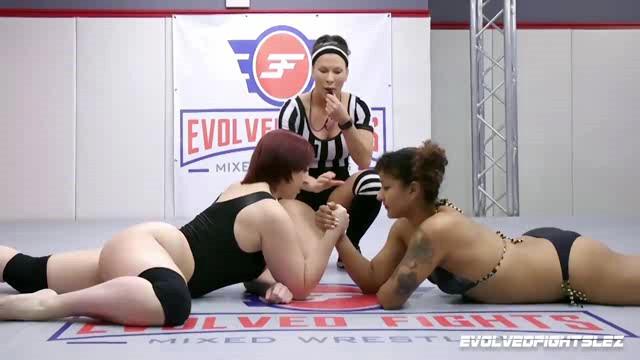 EvolvedFightsLez 20 07 07 Daisy Ducati And Mistress Kara Arm Wrestling XXX