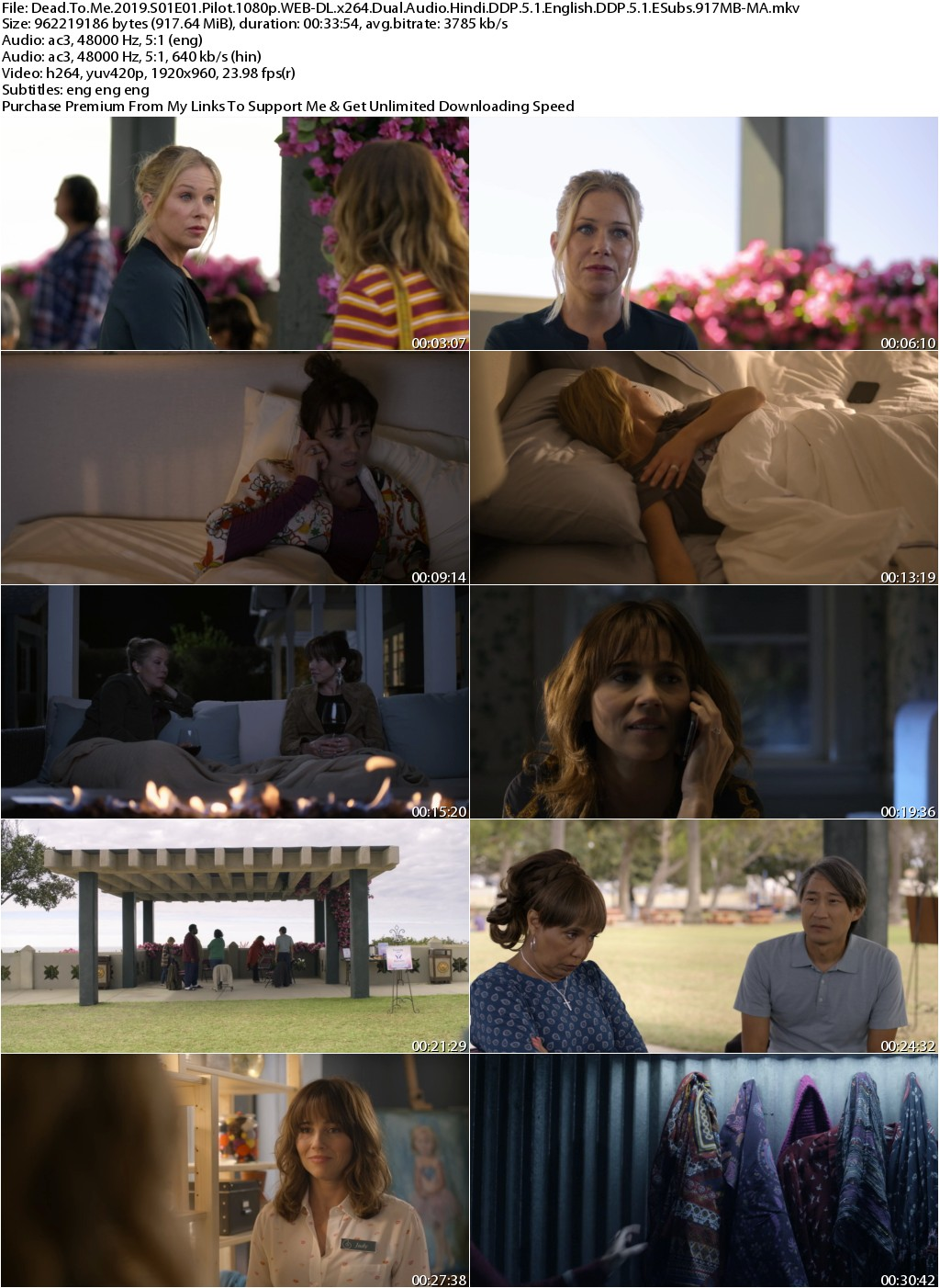 Dead To Me 2019 S01 Complete 1080p WEB-DL x264 Dual Audio Hindi DDP 5.1 Eng DDP 5.1 ESubs 7.68GB-MA