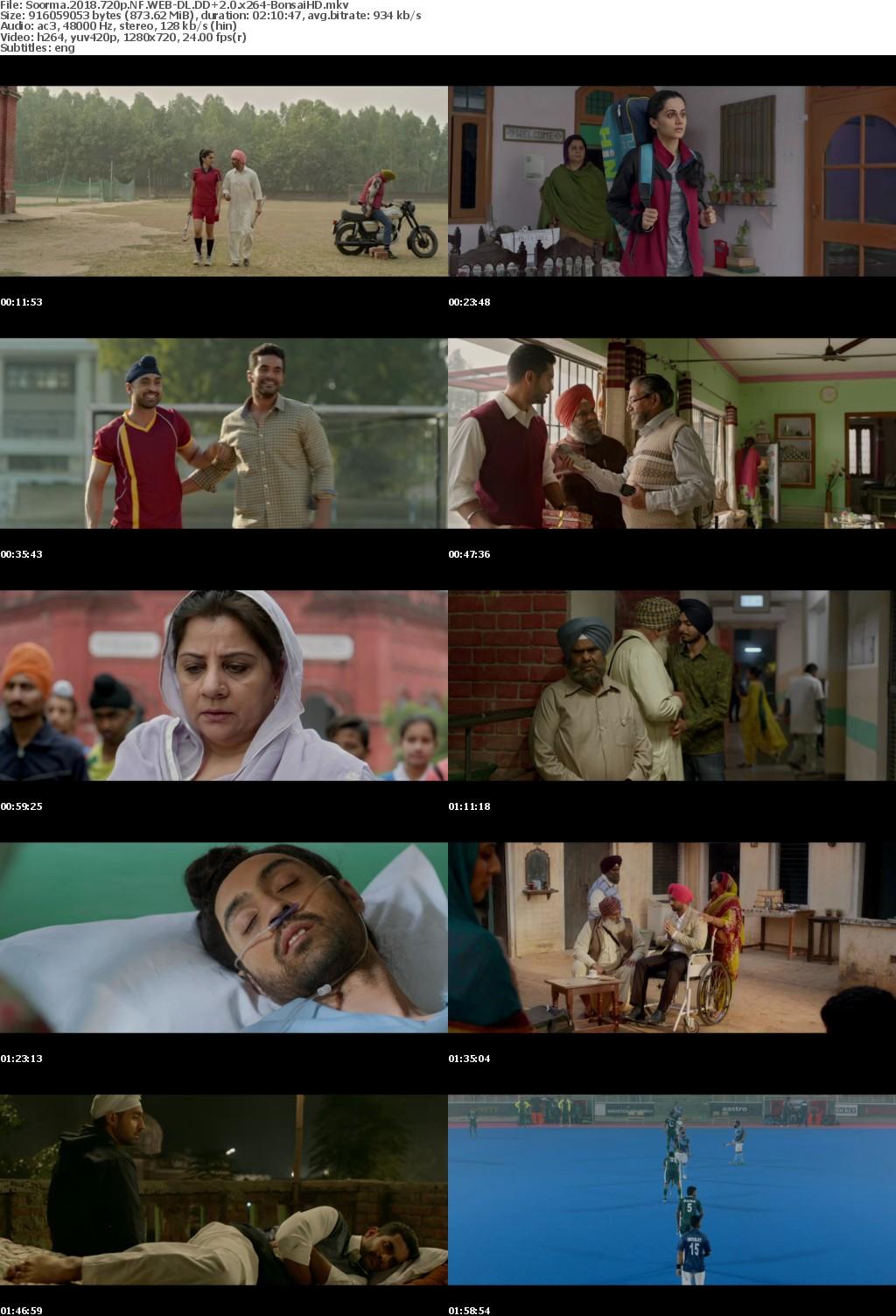 Soorma (2018) Hindi 720p NF WEB-DL - 870 MB - 2CH ESub x264 - Shadow (BonsaiHD)