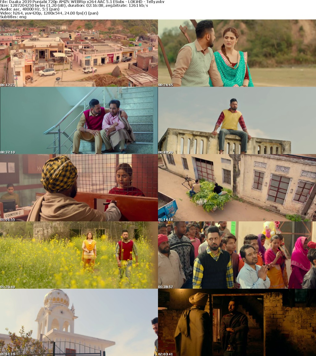 Daaka 2019 Punjabi 720p AMZN WEBRip x264 AAC 5 1 ESubs - LOKiHD - Telly