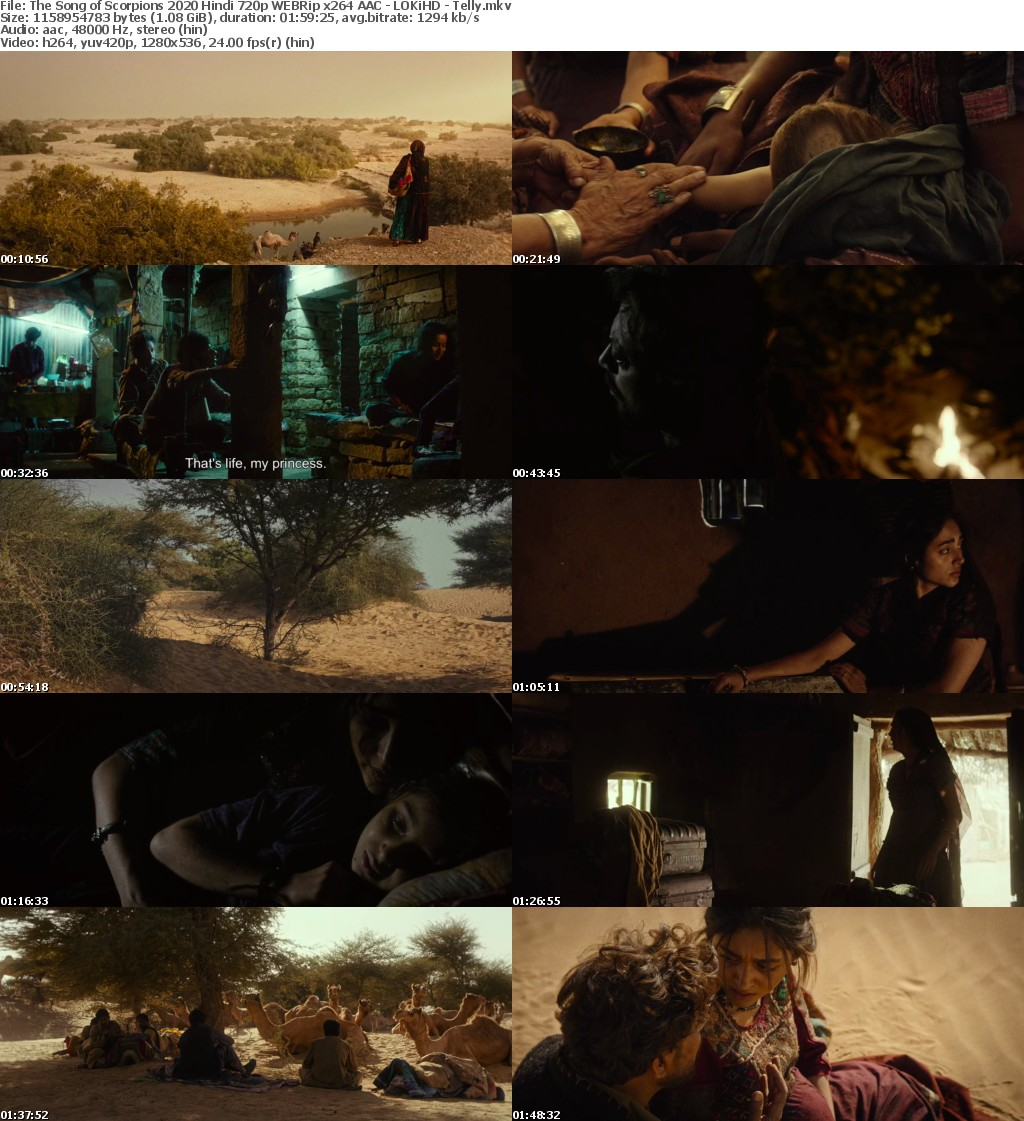 The Song of Scorpions 2020 Hindi 720p WEBRip x264 AAC - LOKiHD - Telly