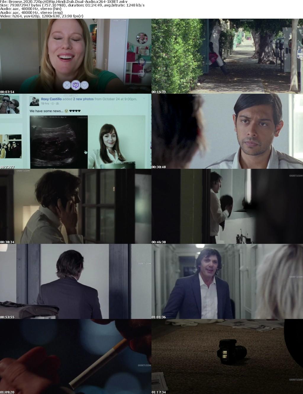 Browse (2020) 720p HDRip Hindi-Dub Dual-Audio x264 - 1XBET