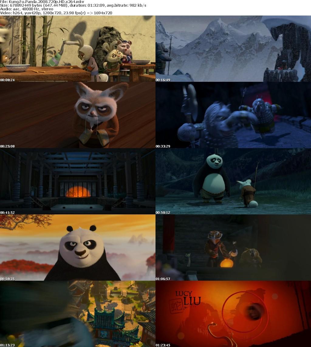 Kung Fu Panda 2008 720p HD x264 MoviesFD